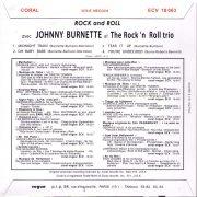 Johnny Burnette Trio ECV 18 063 Back