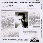 Marcel bontempi Bury my troubles back