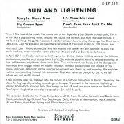 Sun & Lightning EP back