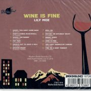 Lily Moe wine is fine CD back